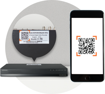 Samsung Wisenet All-in-One Kit easy setup, QR code