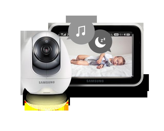 Samsung BabyView Premium SEW-3057W 4 Pre-programmed Lullabies