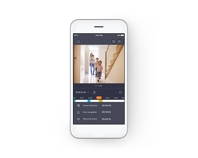 Don't miss a moment with the Wisenet SmartCam+ app.